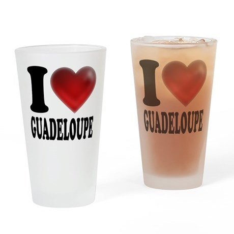 I Heart Guadeloupe Drinking Glass