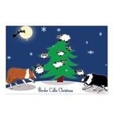 Border collie christmas Postcards