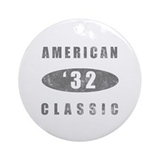 1932 Birthday Classic Ornament (Round)
