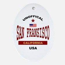 San Fransisco Oval Ornament