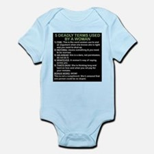 deadly terms used by a woman Infant Bodysuit