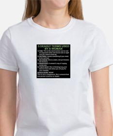 deadly terms used by a woman Tee