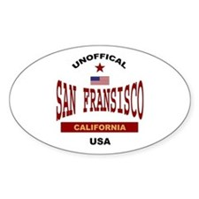 San Fransisco Oval Decal