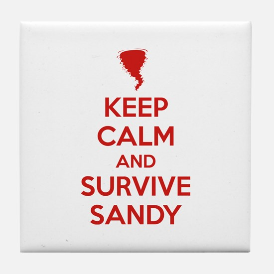Keep Calm and Survive Sandy Tile Coaster