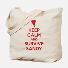 Keep Calm and Survive Sandy Tote Bag
