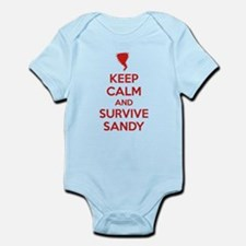 Keep Calm and Survive Sandy Infant Bodysuit