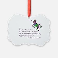 Scrubs Unicorn Quotes Ornament