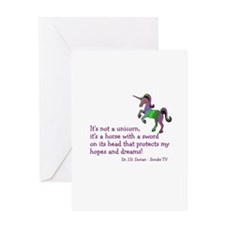 Scrubs Unicorn Quotes Greeting Card