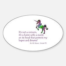 Scrubs Unicorn Quotes Decal