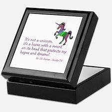 Scrubs Unicorn Quotes Keepsake Box