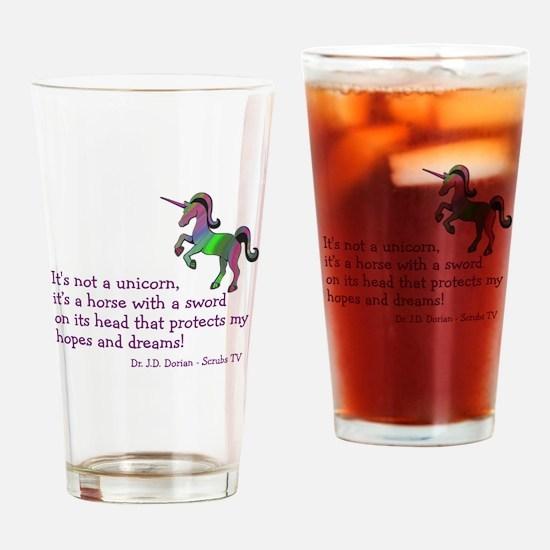 Scrubs Unicorn Quotes Drinking Glass