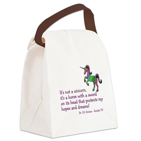 Scrubs Unicorn Quotes Canvas Lunch Bag