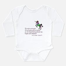 Scrubs Unicorn Quotes Long Sleeve Infant Bodysuit