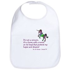 Scrubs Unicorn Quotes Bib