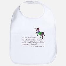 Scrubs Unicorn Quotes Bib