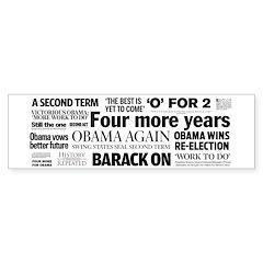 Obama Re-Elected Headline Bumper Sticker
