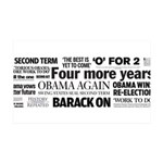 Obama Re-Elected Headline 35x21 Wall Decal