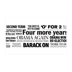 Obama Re-Elected Headline Wall Decal