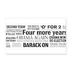 Obama Re-Elected Headline Rectangle Car Magnet