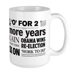 Obama Re-Elected Headline Large Mug
