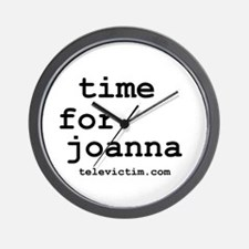 """time for joanna"" Wall Clock"
