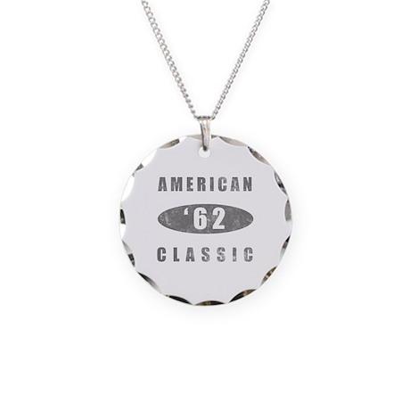1962 Birthday Classic Necklace Circle Charm