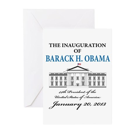 2013 Obama inauguration day Greeting Cards (Pk of