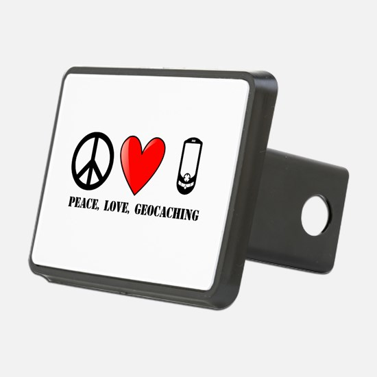 Peace, Love, Geocaching Hitch Cover