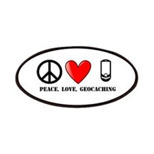 Peace, Love, Geocaching Patches