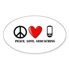 Peace, Love, Geocaching Decal