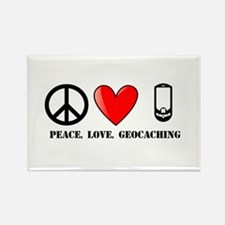 Peace, Love, Geocaching Rectangle Magnet (10 pack)