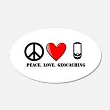 Peace, Love, Geocaching Wall Decal
