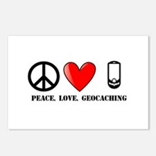 Peace, Love, Geocaching Postcards (Package of 8)