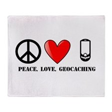 Peace, Love, Geocaching Throw Blanket