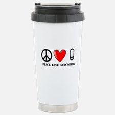 Peace, Love, Geocaching Travel Mug