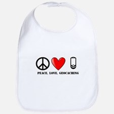 Peace, Love, Geocaching Bib