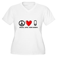 Peace, Love, Geocaching T-Shirt