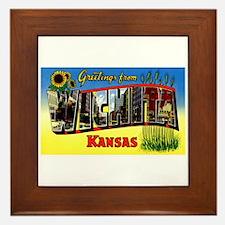 Wichita Kansas Greetings Framed Tile