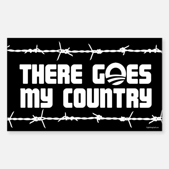 There goes my country Sticker (Rectangle)