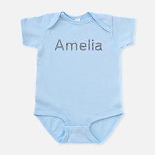 Amelia Paper Clips Onesie