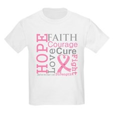 Breast Cancer Hope Courage T-Shirt