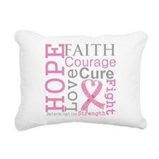 Breast Cancer Hope Courage Rectangular Canvas Pill