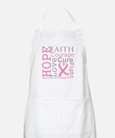 Breast Cancer Hope Courage Apron