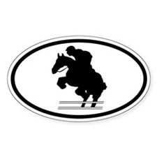 Equestrian Oval Decal
