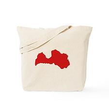 Latvia map Tote Bag