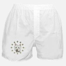 West Highland White and Paws Art Boxer Shorts