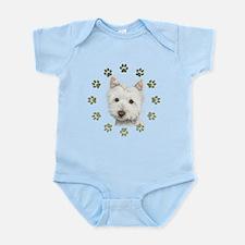 West Highland White and Paws Art Infant Bodysuit