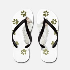 West Highland White and Paws Art Flip Flops