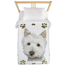 West Highland White and Paws Art Twin Duvet