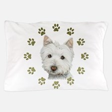West Highland White and Paws Art Pillow Case